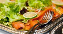 Dish with smoked salmon - Banqueting